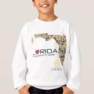 Map of Florida with all counties spelled out Sweatshirt