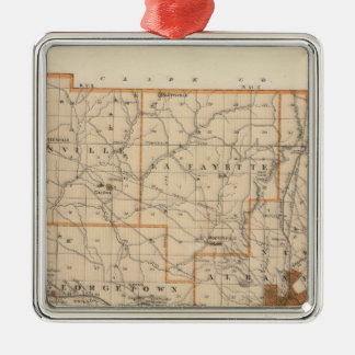Map of Floyd County Christmas Ornament