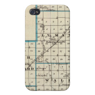 Map of Ford County and Paxton iPhone 4 Cases