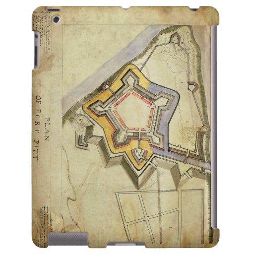 Map of Fort Pitt iPad Case