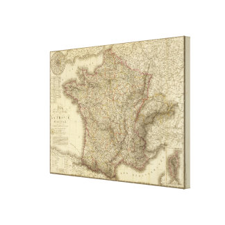 Map of France 2 Canvas Print