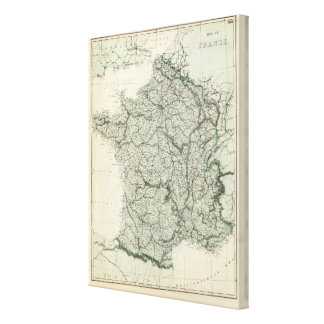 Map of France Canvas Print