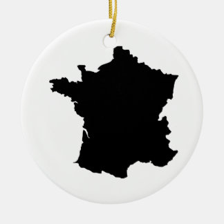 map of france round ceramic decoration