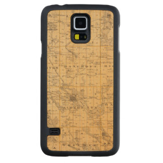 Map of Freeborn County, Minnesota Carved Maple Galaxy S5 Case