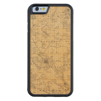 Map of Freeborn County, Minnesota Carved Maple iPhone 6 Bumper Case