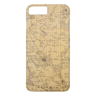 Map of Freeborn County, Minnesota iPhone 8 Plus/7 Plus Case