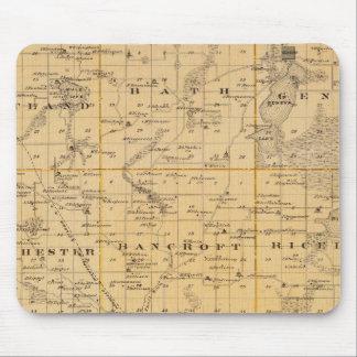 Map of Freeborn County, Minnesota Mouse Mat