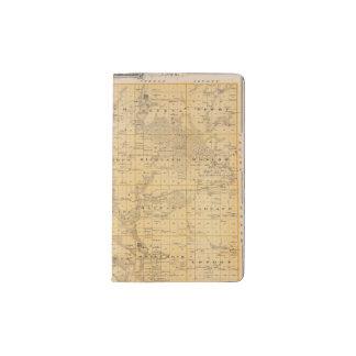 Map of Freeborn County, Minnesota Pocket Moleskine Notebook