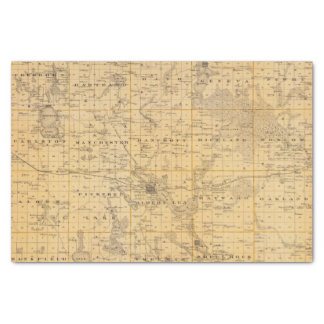 Map of Freeborn County, Minnesota Tissue Paper