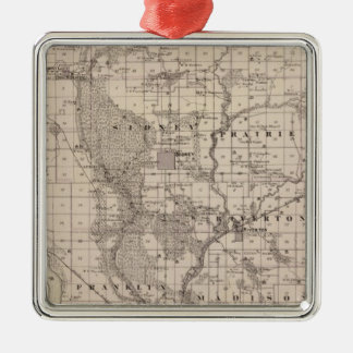Map of Fremont County, State of Iowa Christmas Ornament