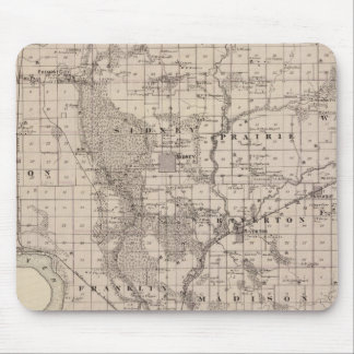 Map of Fremont County, State of Iowa Mouse Mat