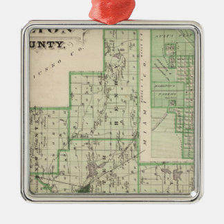 Map of Fulton County with Rochester, Fulton Co Christmas Ornament