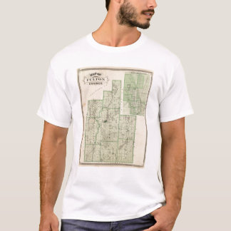 Map of Fulton County with Rochester, Fulton Co T-Shirt