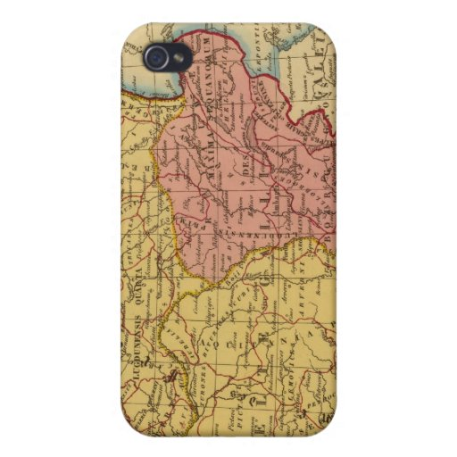 Map of Gaul iPhone 4/4S Cover