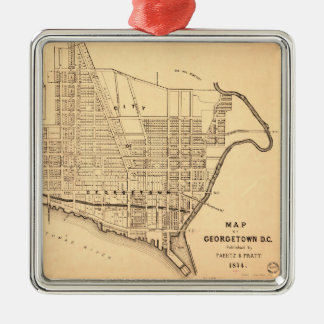 Map of Georgetown D.C. (District of Columbia) 1874 Christmas Ornament