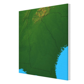 Map of Georgia 2 Canvas Print