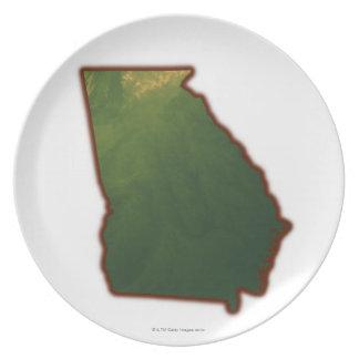 Map of Georgia 2 Plate