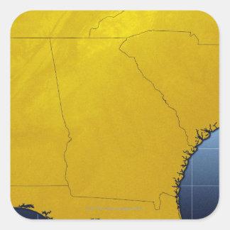 Map of Georgia 3 Square Sticker