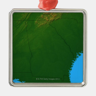 Map of Georgia 4 Christmas Ornament