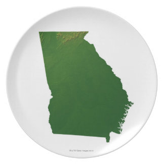 Map of Georgia Party Plate