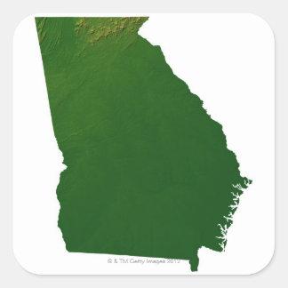 Map of Georgia Square Sticker
