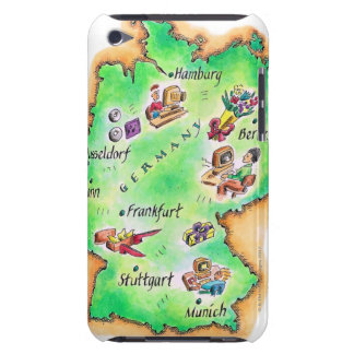 Map of Germany Barely There iPod Covers