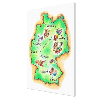 Map of Germany Canvas Print