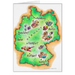 Map of Germany Greeting Cards