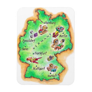 Map of Germany Flexible Magnets