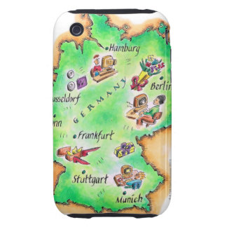 Map of Germany Tough iPhone 3 Covers