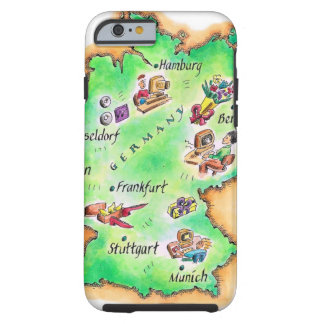Map of Germany Tough iPhone 6 Case