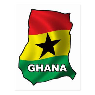 Map Of Ghana Postcard