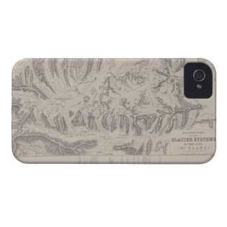 Map of Glacier Systems of the Alps iPhone 4 Covers