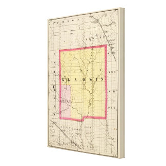 Map of Gladwin County, Michigan Canvas Print