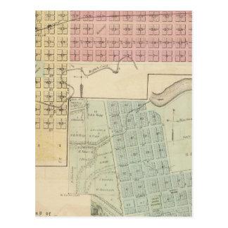 Map of Glencoe, Map of Henderson, Minnesota Postcard