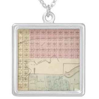 Map of Glencoe, Map of Henderson, Minnesota Silver Plated Necklace