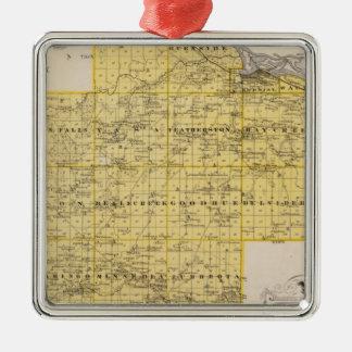 Map of Goodhue County, Minnesota Christmas Ornament