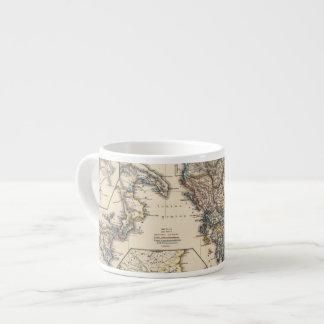 Map of Graecia, Macedonia, Thracia Espresso Cup