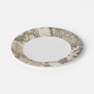 Map of Graecia, Macedonia, Thracia Paper Plate