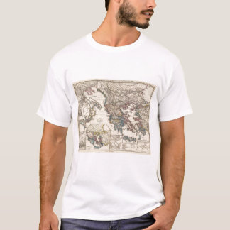 Map of Graecia, Macedonia, Thracia T-Shirt