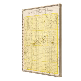 Map of Grant County Canvas Print
