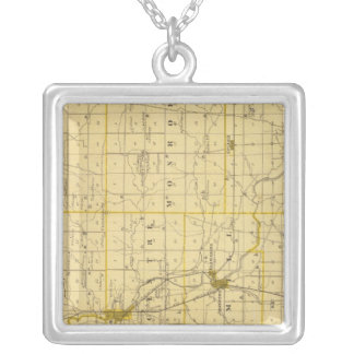 Map of Grant County Silver Plated Necklace