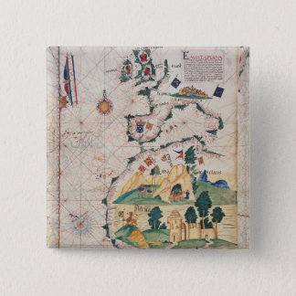 Map of Great Britain 15 Cm Square Badge