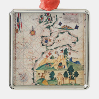 Map of Great Britain Christmas Ornament