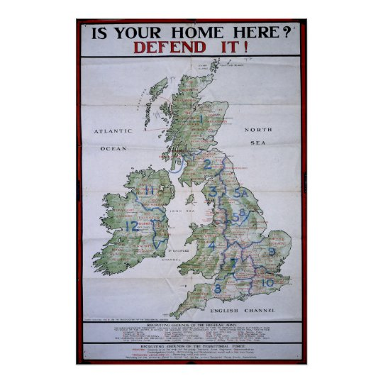 Map of Great Britain - Defend It Poster