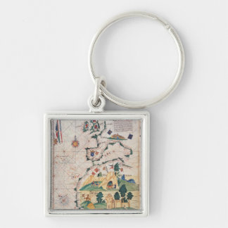 Map of Great Britain Key Ring