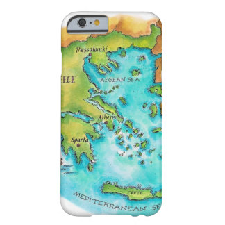Map of Greece Isles Barely There iPhone 6 Case