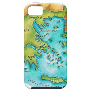 Map of Greece Isles Case For The iPhone 5