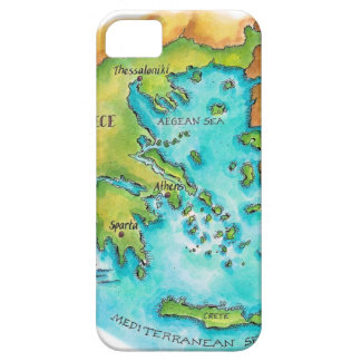 Map of Greece Isles iPhone 5 Covers