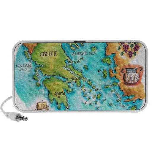 Map of Greece Isles Mini Speakers